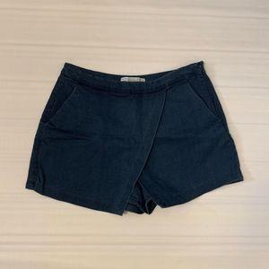 ZARA Wrap Skort, Blue, Size 4